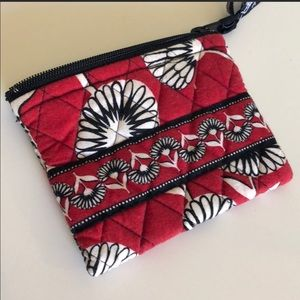 Vera Bradley Bags - VERA Red and black floral pouch / clutch